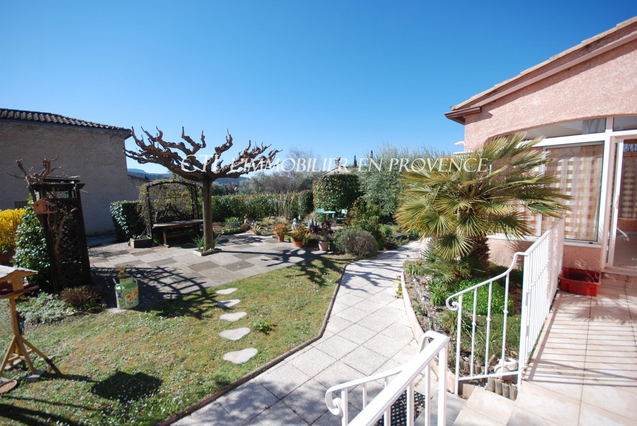 0 www.cti-provence.net villa provençale de plain pied proche centre ville de Vaison, joli jardin