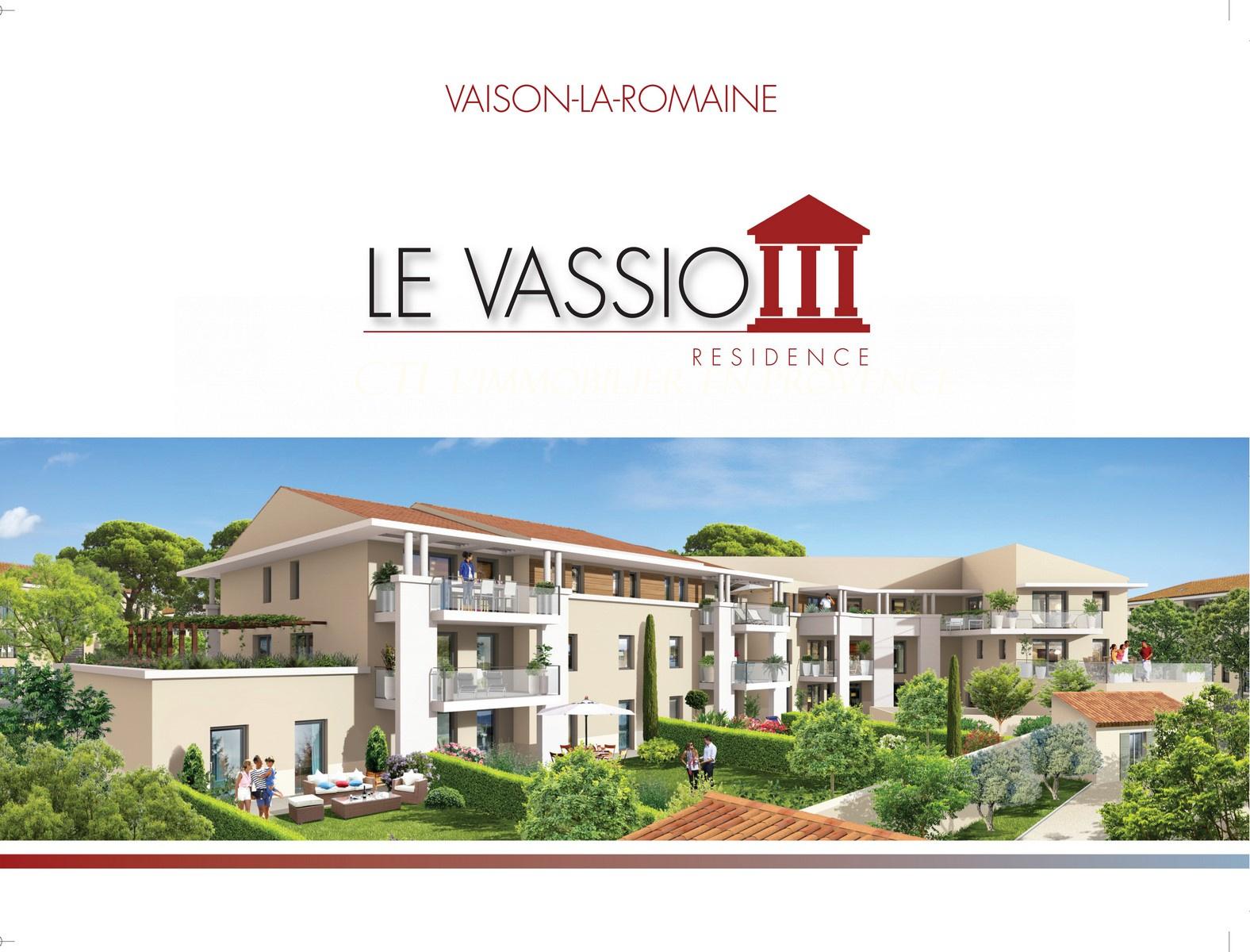 www.cti-provence.net PROGRAMME NEUF APPARTEMENT DE STANDING T2 VAISON LA ROMAINE ASCENSEUR JARDIN