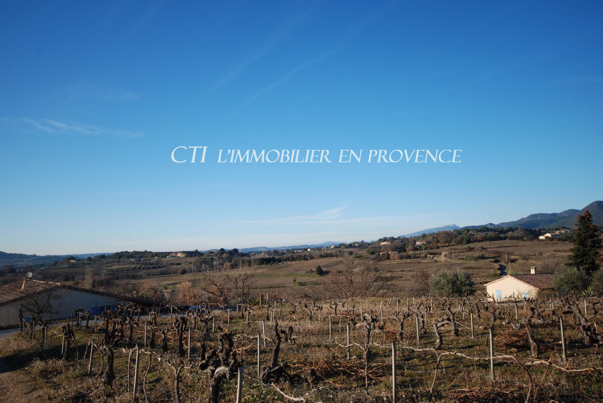 0 www.cti-provence.net A VENDRE TERRAIN PARCELLE CONSTRUCTIBLE SITUATION DOMINANTE PROCHE VAISON
