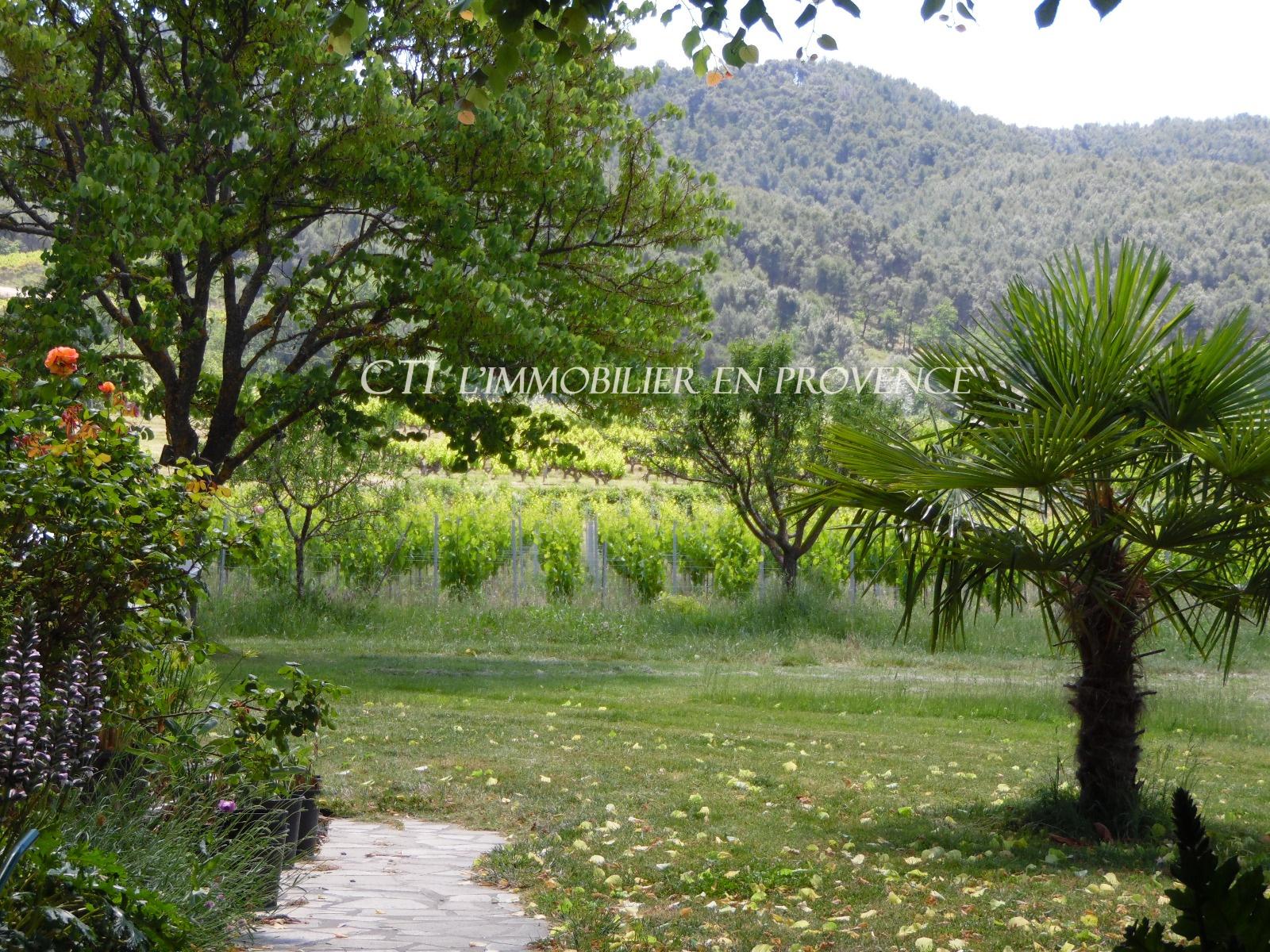 www.cti-provence.net MAS DE CAMPAGNE PIERRE A VENDRE PROCHE VAISON LA ROMAINE VUE MONT-VENTOUX