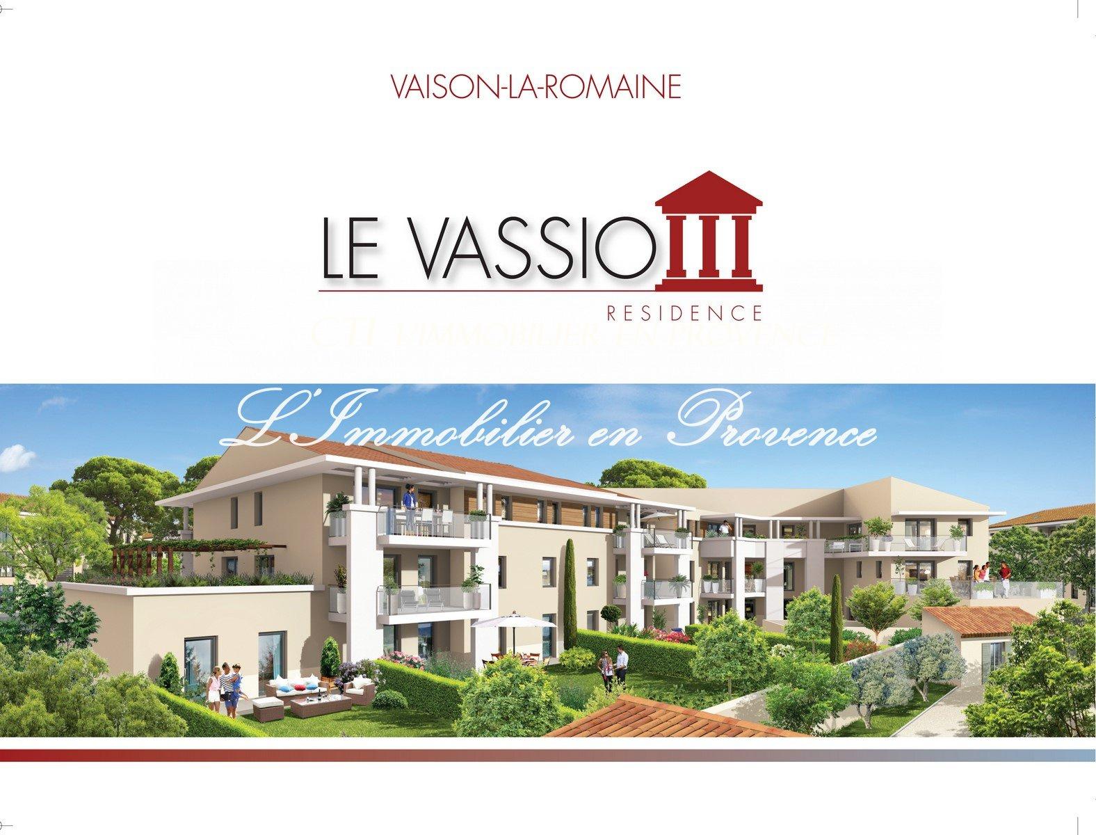 www.cti-provence.net PROGRAMME NEUF APPARTEMENT DE STANDING T4 VAISON LA ROMAINE ASCENSEUR JARDIN