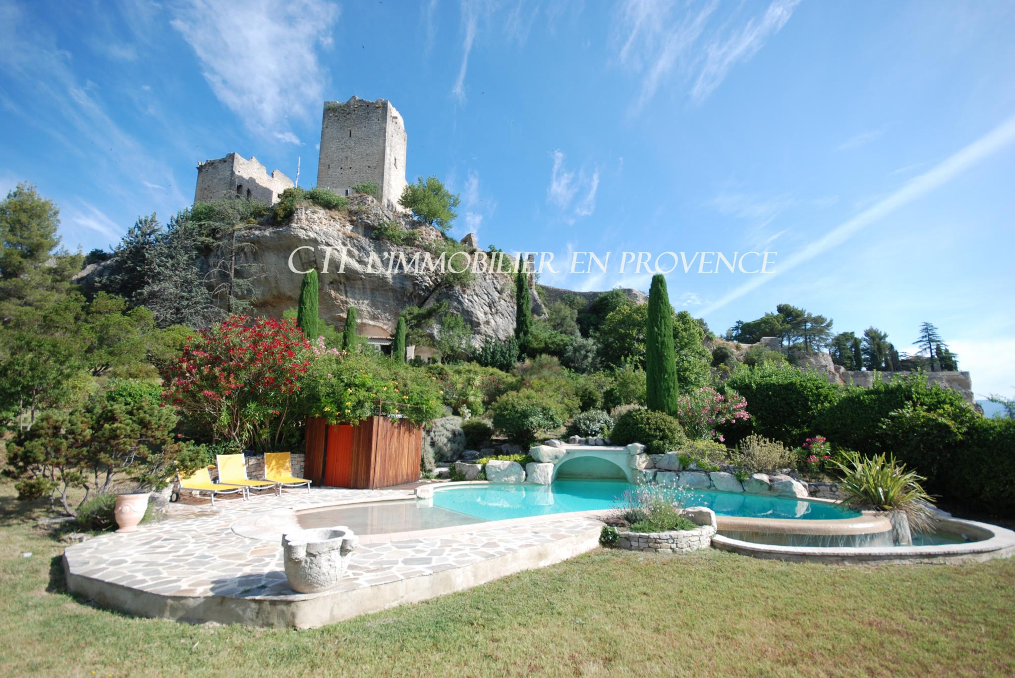 0 www;cti-provence.net Vente Vaison la Romaine, dominante, jardin clos 3 000 m², piscine, vue